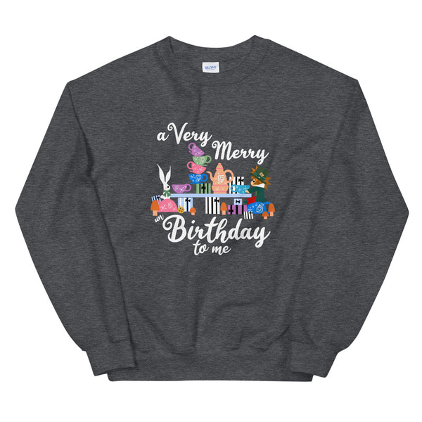 Disney Birthday Sweatshirt Alice in Wonderland A Very Merry un Birthday To Me Crew Sweatshirt