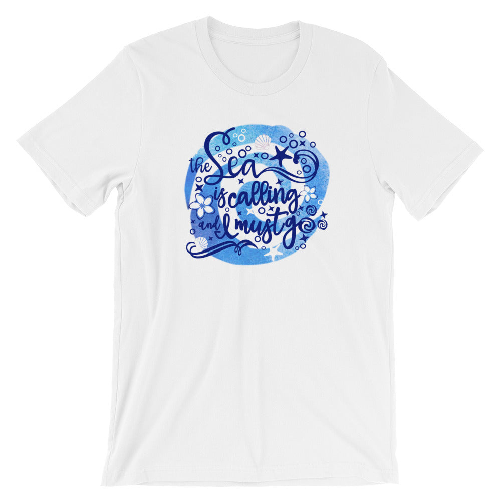 Moana The Sea is Calling and I Must Go Disney Unisex T-Shirt