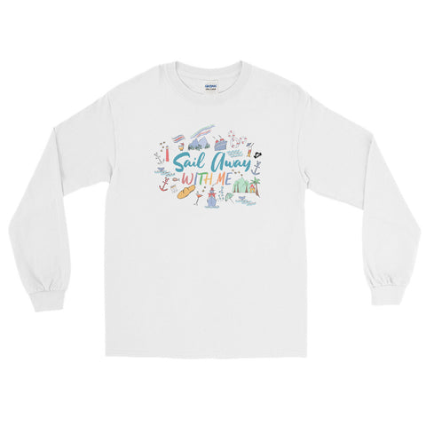 Disney Cruise Long Sleeve Shirt Sail Away with Me Disney Cruise Sketch Disney Long Sleeve Shirt