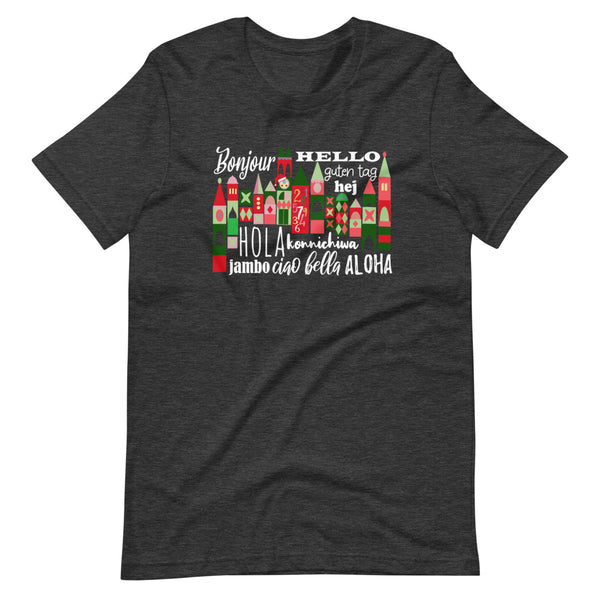 Small World Holiday T-Shirt Disney Small World Many Languages Christmas T-Shirt