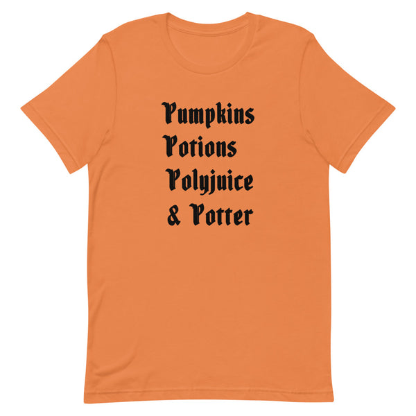 Harry Potter Halloween List Short-Sleeve Unisex T-Shirt