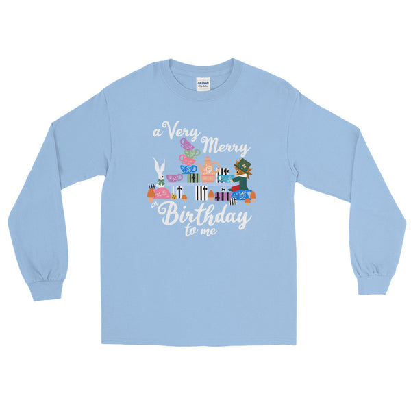 Disney Birthday Alice in Wonderland A Very Merry un Birthday To Me Long Sleeve Shirt