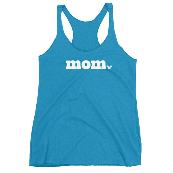 Disney Mom with Mickey. Period. Ladies Racerback Tank