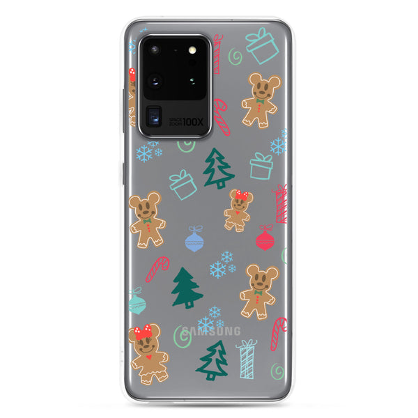Gingerbread Mickey Holiday Christmas Samsung Case
