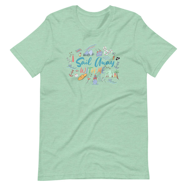 Disney Cruise T-Shirt Sail Away with Me Disney Cruise Sketch Unisex T-Shirt