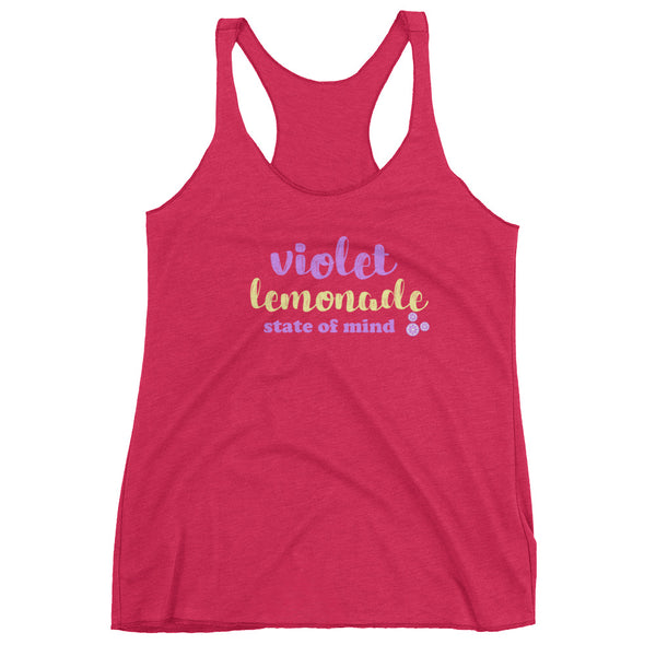 Violet Lemonade Flower and Garden Festival Epcot Women's Racerback Tank