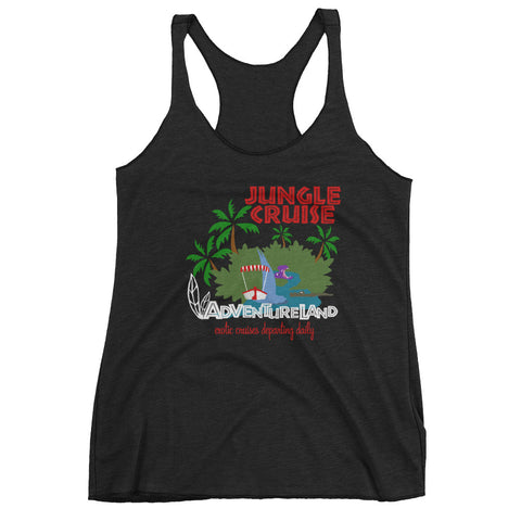 Jungle Cruise  Adventureland Poster Women's Racerback Tank