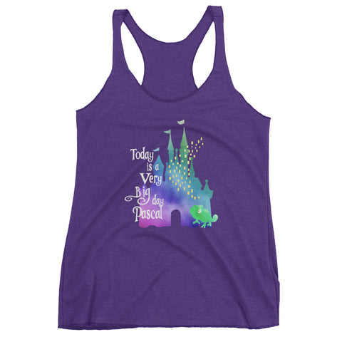 Tangled Today is a Big Day Pascal Rapunzel Women's Racerback Tank