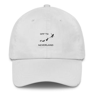 Off to Neverland Peter Pan Dat Hat, Disney Inspired Dad hat