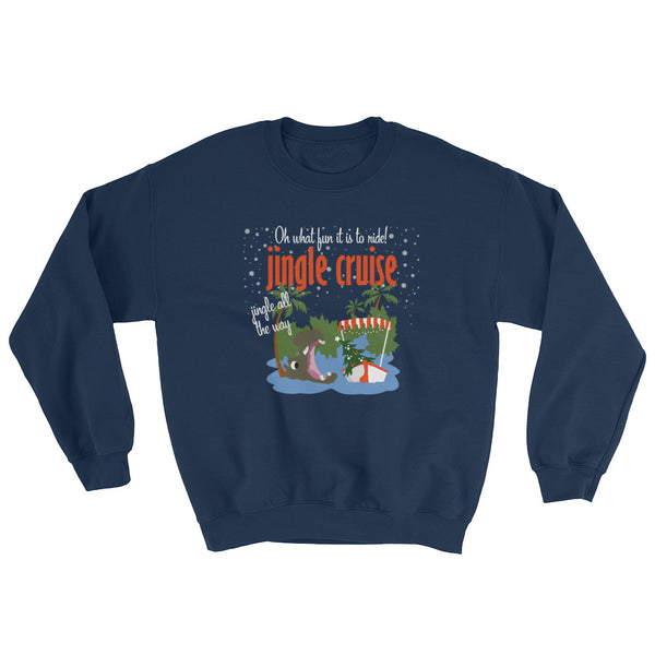 Jingle Cruise, Hippo, Disney Christmas Sweatshirt