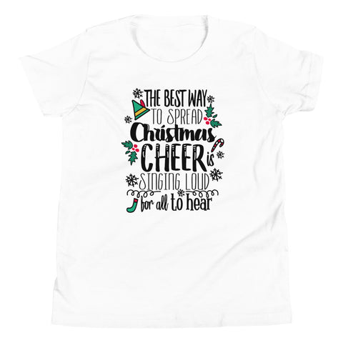 Elf Kids Christmas T-shirt Buddy the Elf Christmas Shirt Youth Short Sleeve T-Shirt