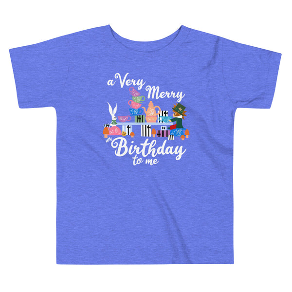 Disney Birthday Toddler T-Shirt Alice in Wonderland A Very Merry un Birthday To Me Toddler T-Shirt