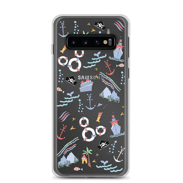 Disney Cruise Samsung Phone Case Sail Away with Me Disney Cruise Sketch Samsung Phone Case