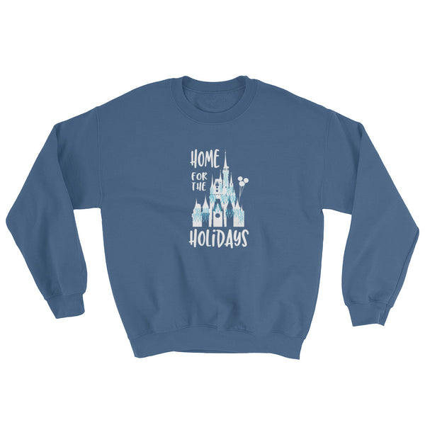 Home for The Holidays Walt Disney World Inspired Castle Crew Neck Sweatshirt Adult