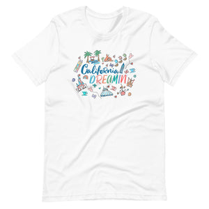 Disneyland T-Shirt California Dreamin' Tee Disney Inspired Icon Unisex T-Shirt