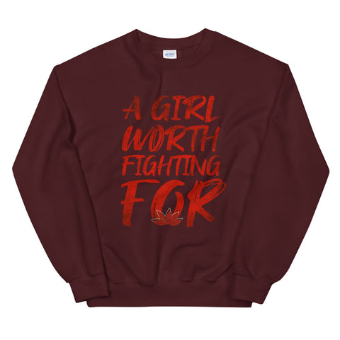 Mulan Disney Crew Sweatshirt A Girl Worth Fighting For Unisex Disney Sweatshirt