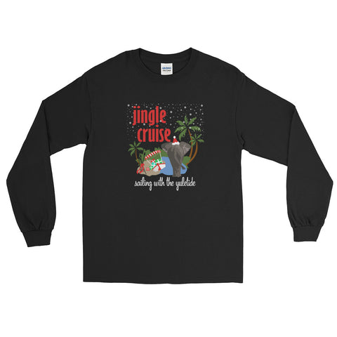 Jingle Cruise, Elephant, Long Sleeve T-Shirt, Disney Christmas Shirt