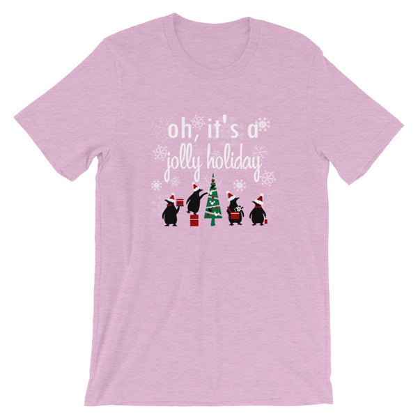 Jolly Holiday Disney Christmas Tree T-Shirt Penguins Mary Poppins