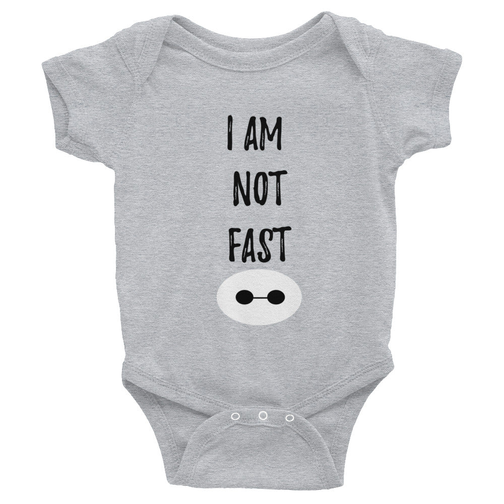 Baymax I am Not Fast Onesie Infant Bodysuit
