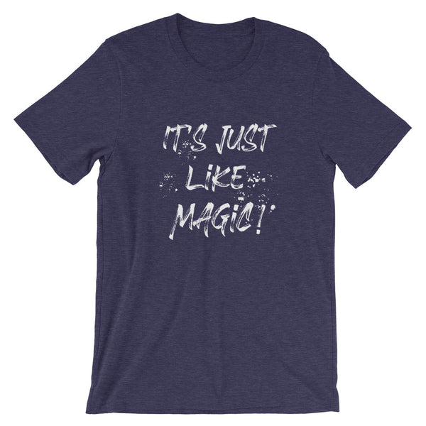 Harry Potter T-Shirt It's Just Like Magic Wizarding World of Harry Potter Raglan T-Shirt White