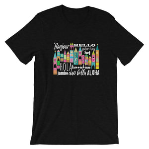 Small World Hello T-Shirt Disney Small World Many Languages Shirt