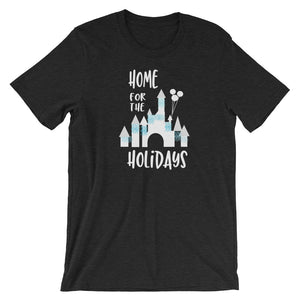 Home for the Holidays Disneyland Sleeping Beauty Castle Christmas Holiday Unisex Tee