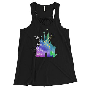 Rapunzel  and Pascal Disney Castle Flowy Tank Top