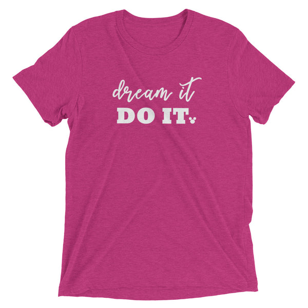 Walt Disney Quote Vintage T-Shirt. Dream it. Do it. Mickey Shirt. Triblend