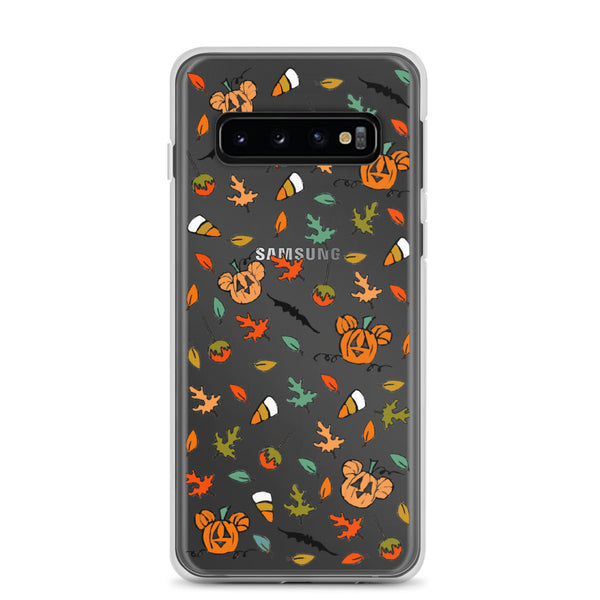 Boo to You Samsung Case Disney Halloween Sketch Mickey Pumpkin Samsung Case