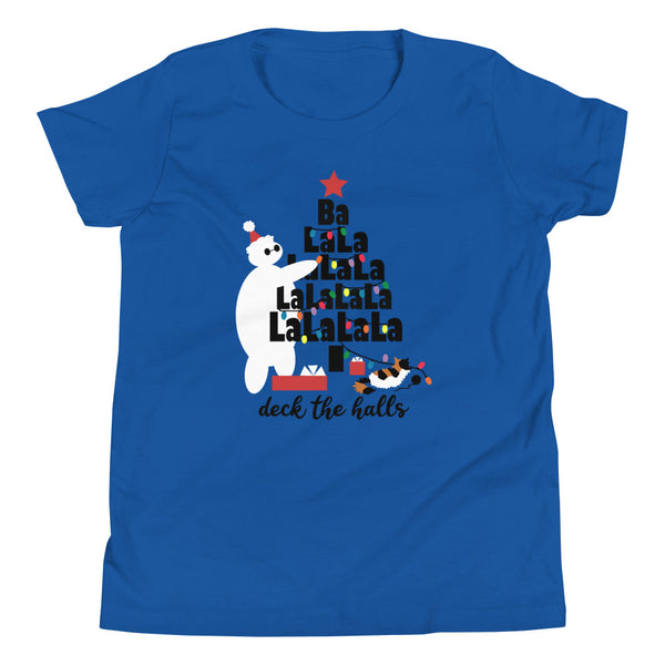 Baymax Christmas Kids Shirt, Holiday Youth Short Sleeve T-Shirt