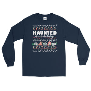 Haunted Mansion Holidays Long Sleeve T-Shirt Disney Parks Haunted for the Holidays Long Sleeve Shirt