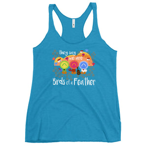 Three Caballeros Tank Top, Disney Birds of a Feather Women's Racerback Tank