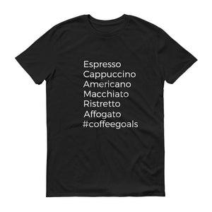 Coffee Shirt, #coffeegoals, Coffee Goals Drinking shirt, Coffee Lovers