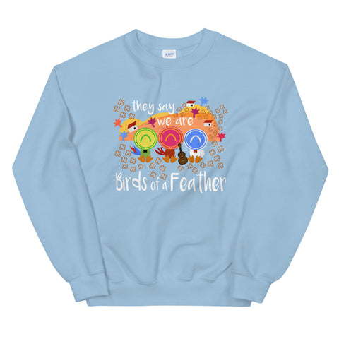 Three Caballeros Sweatshirt, Disney Birds of a Feather Unisex Crew Disney Sweatshirt