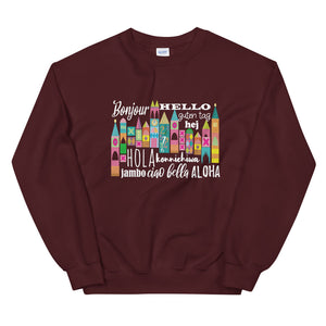 Small World Hello Sweatshirt Disney Small World Many Languages Sweatshirt