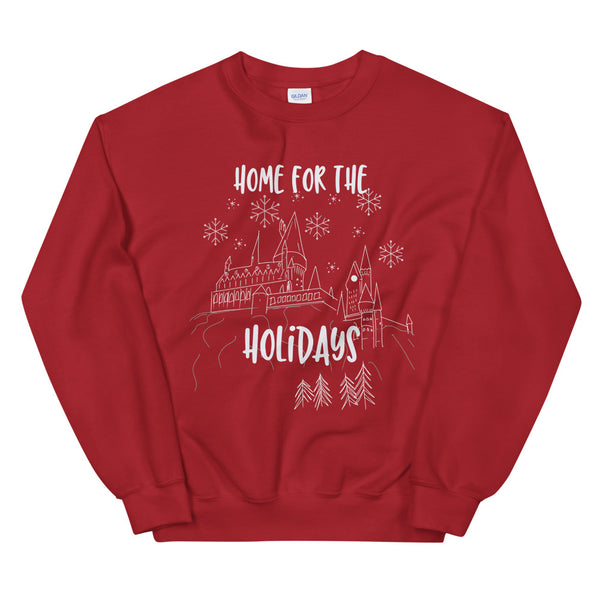 Hogwarts Christmas Sweatshirt Home for the Holidays Wizarding World of Harry Potter Sweatshirt