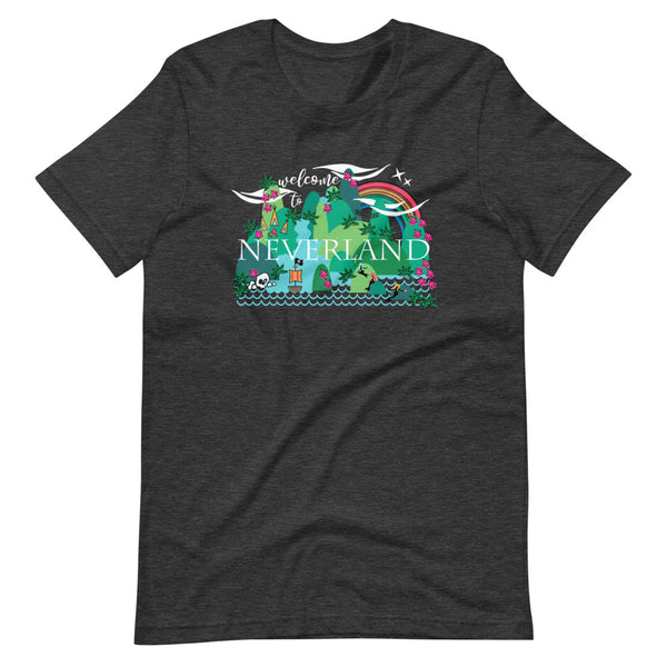 Neverland T-Shirt Disney Mermaids Disney Peter Pan Disney Unisex T-Shirt