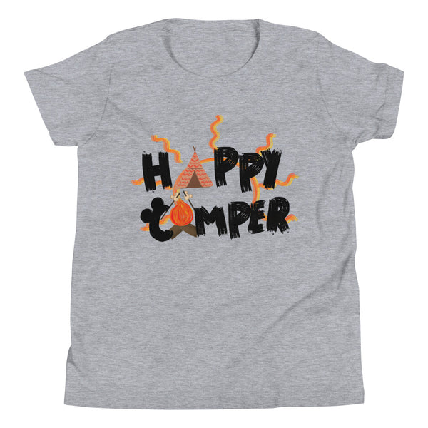 Happy Camper Kids Shirt Disney Fort Wilderness Resort and Campground Camping Kids Shirt