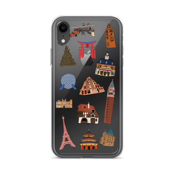 Epcot World Showcase Hello World SpaceShip Earth iPhone Case