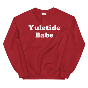 Christmas Holiday Winter Yuletide Babe Unisex Sweatshirt