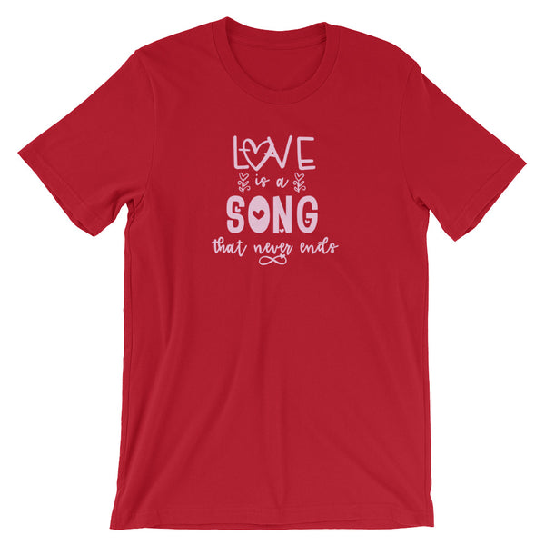 Love is a Song Disney Inspired Valentines Day Bambi Unisex Tee Tshirt