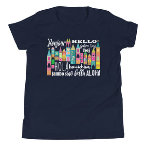 Small World Hello Kids T-Shirt Disney Small World Many Languages Kids T-Shirt
