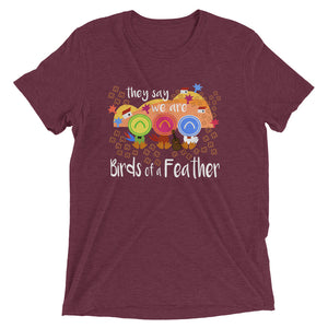 Three Caballeros Tri-Blend T-shirt, Disney Birds of a Feather Unisex Triblend T-Shirt