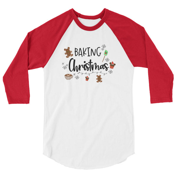 Baking Christmas Raglan Nightmare Before Christmas Shirt