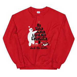 Baymax Disney Christmas Sweatshirt Christmas Tree with Furry Baby Unisex Sweatshirt