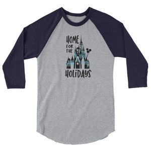 Home for the Holidays Raglan Walt Disney World Christmas