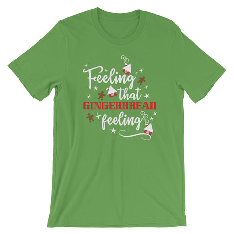 Gingerbread Christmas T-shirt. Feeling That Gingerbread Feeling Home Alone Movie T-Shirt