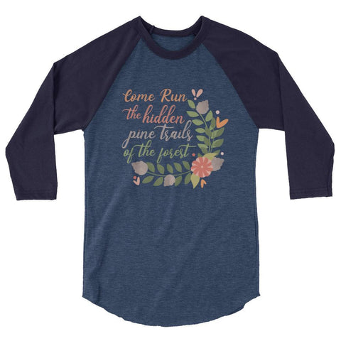 Pocahontas Pine Trails Raglan READY TO SHIP Come Run the Hidden Pine Trails Disney T-shirt runDisney Raglan-LARGE