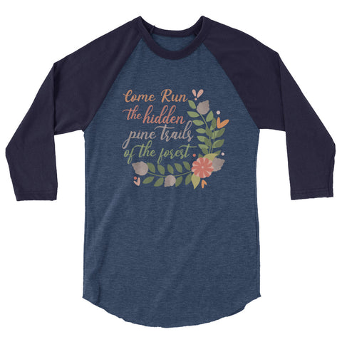 Pocahontas Pine Trails Raglan Come Run the Hidden Pine Trails Disney T-shirt runDisney Raglan