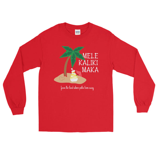 Dole Whip Melekalikimaka Hawaiian Christmas Shirt Long Sleeve Shirt